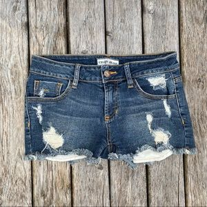 Cello Jeans Distressed Jean Shorts